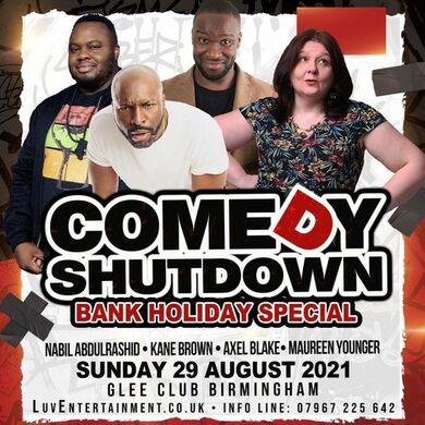 COBO Presents Comedy Shutdown Bank Holiday Special (B'ham)