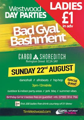 Tim Westwood Day Party - Bad Gyal Bashment