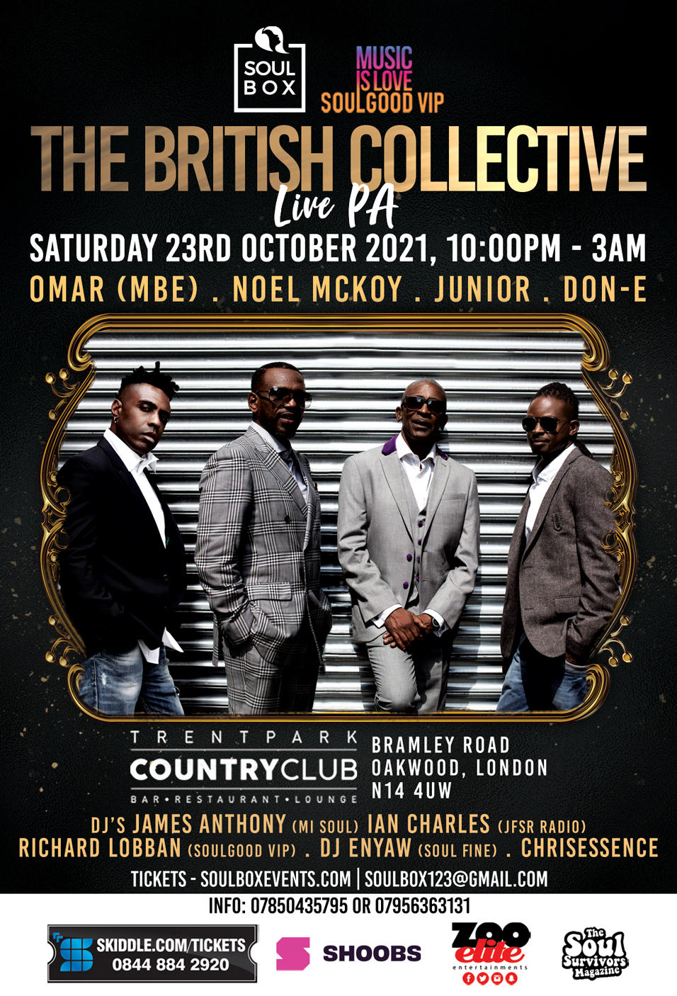 SoulBox & Soulgood VIP presents The British Collective Live PA ticket