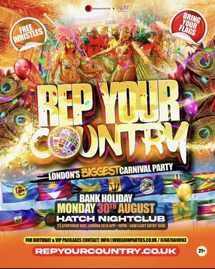 Rep Your Country London's Biggest Carnival Party