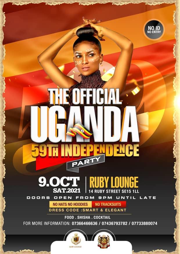 Ruby Lounge Saturdays - Uganda Independence