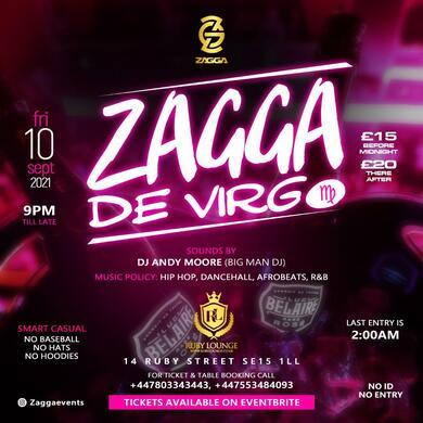 Ruby Lounge Fridays - Zagga Devirgo