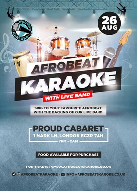 Afrobeat Karaoke with Live Band & Party