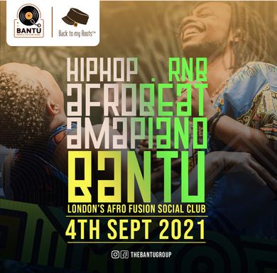 BANTU on Sat 4 September