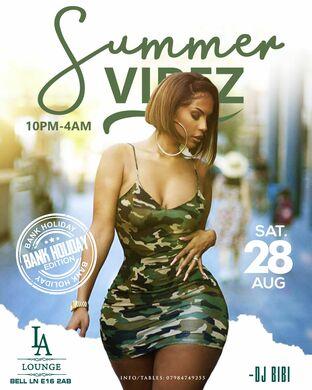 Summer Vibez ♛ Amapiano x Afrobeats (Bank Holiday Saturday 28th August 2021)