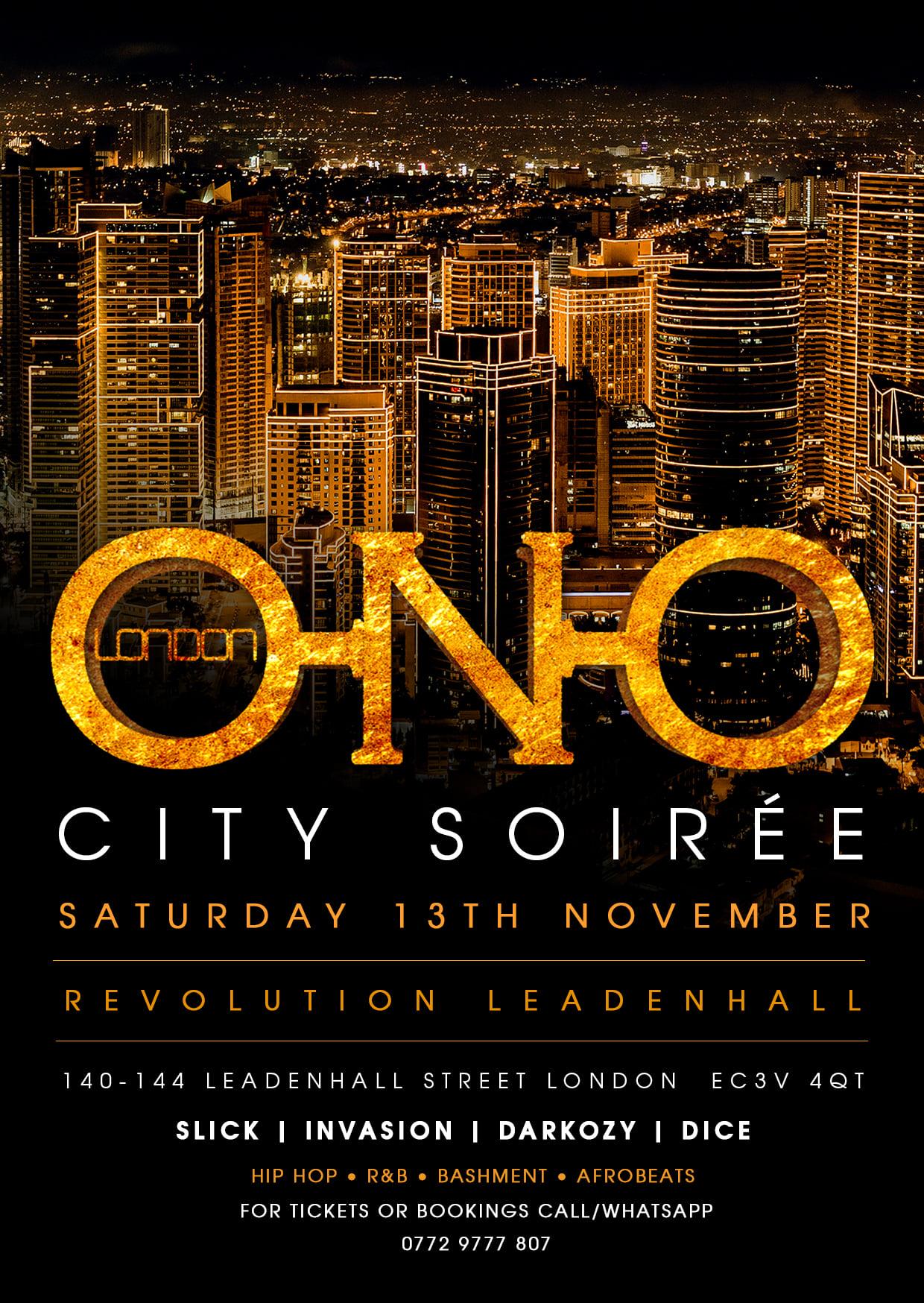 ONO LONDON - City Soirée