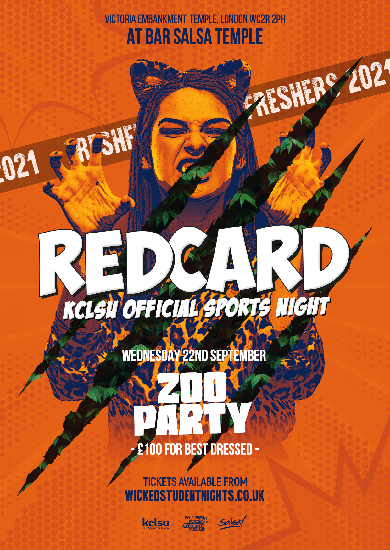 REDCARD - FRESHERS ZOO PARTY - 22ND SEPTEMBER (£2 DRINKS)