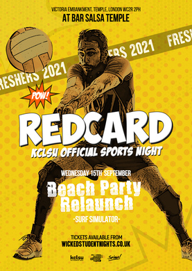 REDCARD - BEACH PARTY - 29TH SEPTEMBER (SURF SIMULATOR)