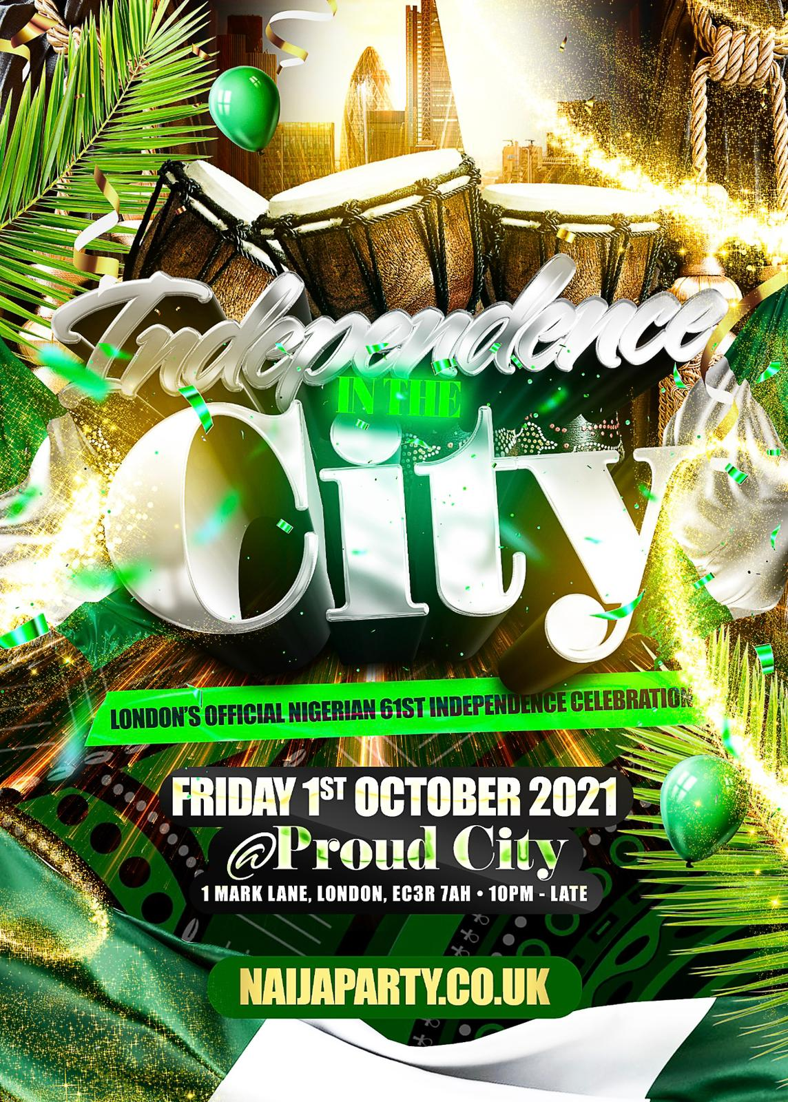 INDEPENDENCE IN THE CITY: OFFICIAL NIGERIAN INDEPENDENCE PARTY!