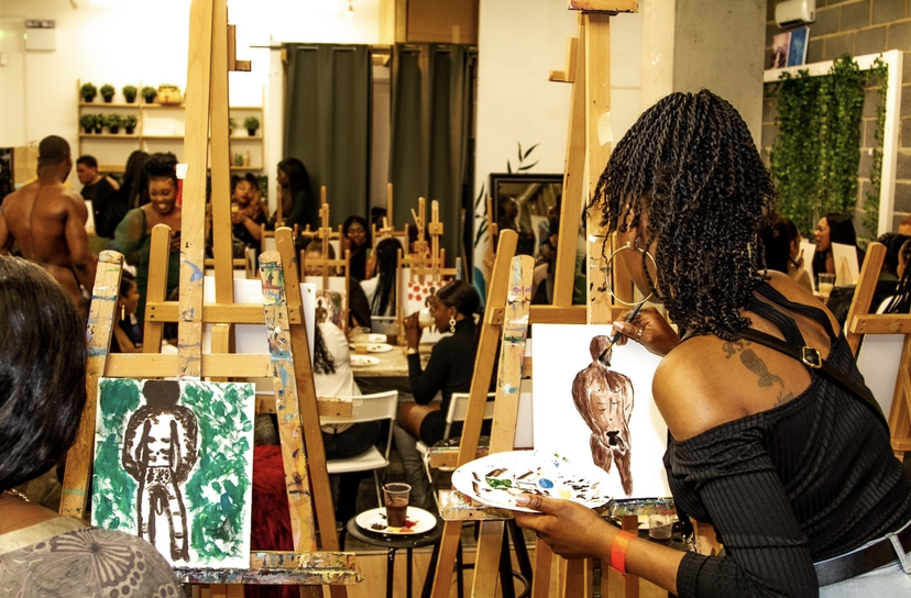 """Sip & Paint Exotica """"Touch It"""""""