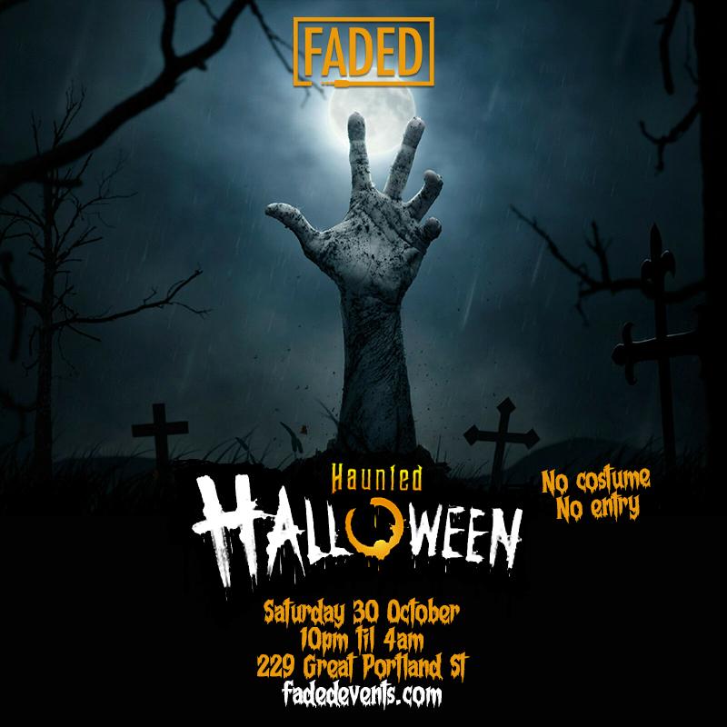 Faded Haunted Halloween