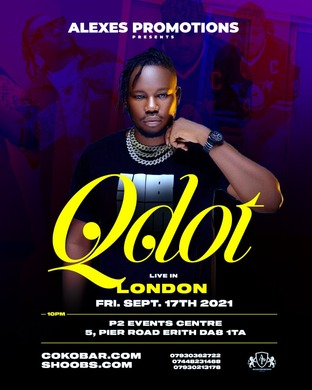 QDOT LIVE IN LONDON BY ALEXES PROMOTIONS