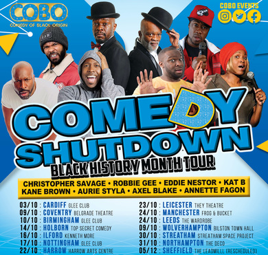 Comedy Shutdown  (Black History Month ) Holborn