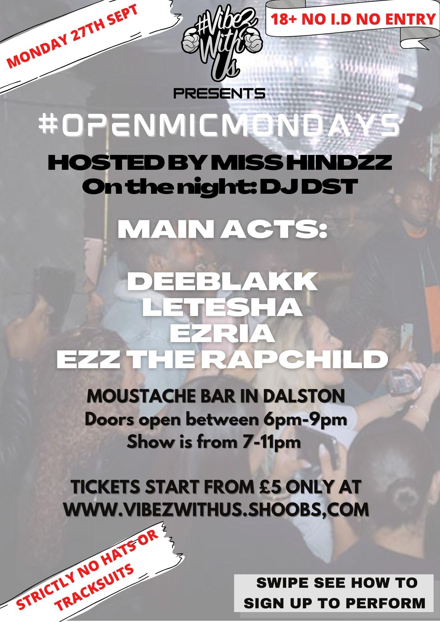 #OpenMicMondays