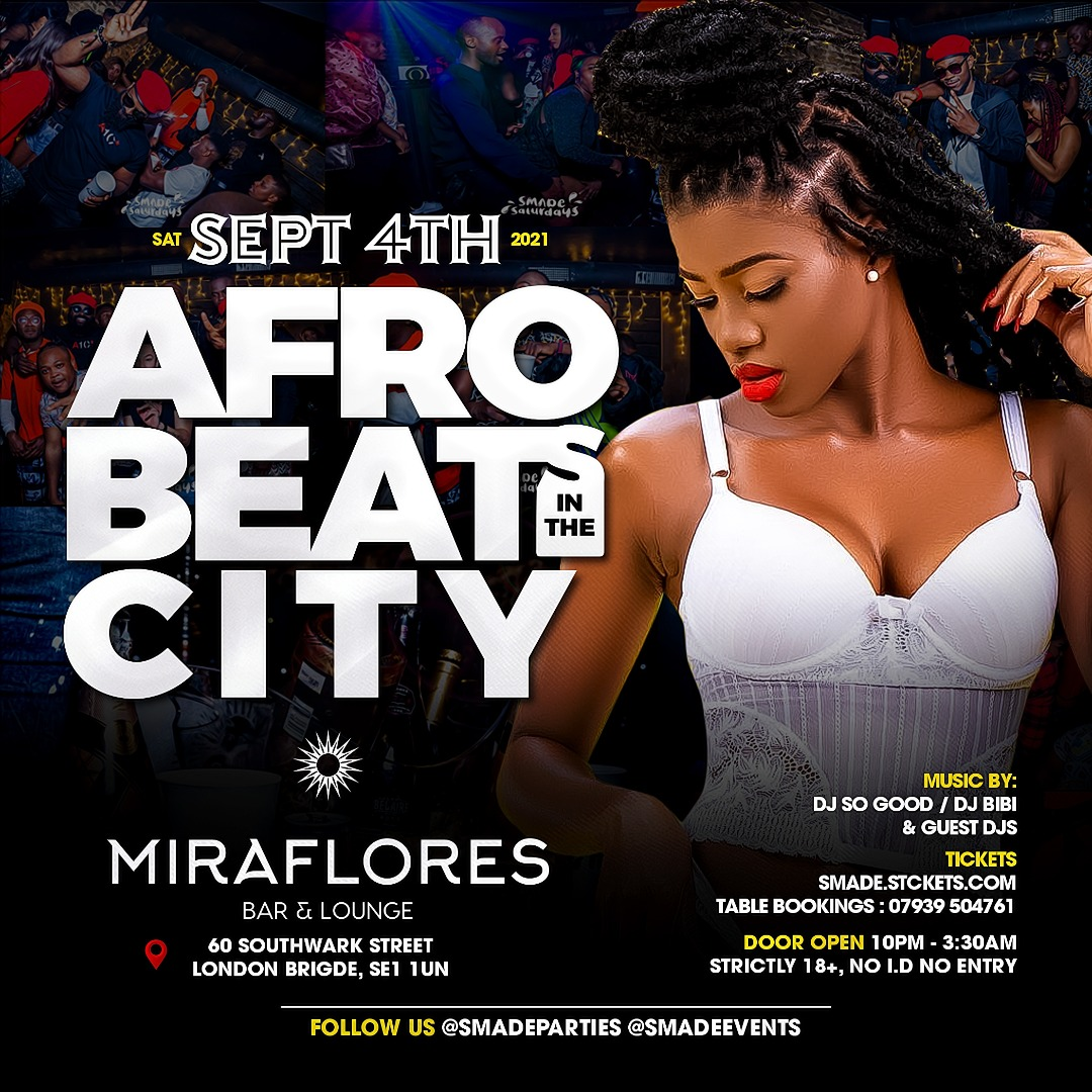 AfroBeats In The City SEP 18 - #SMADESaturdays