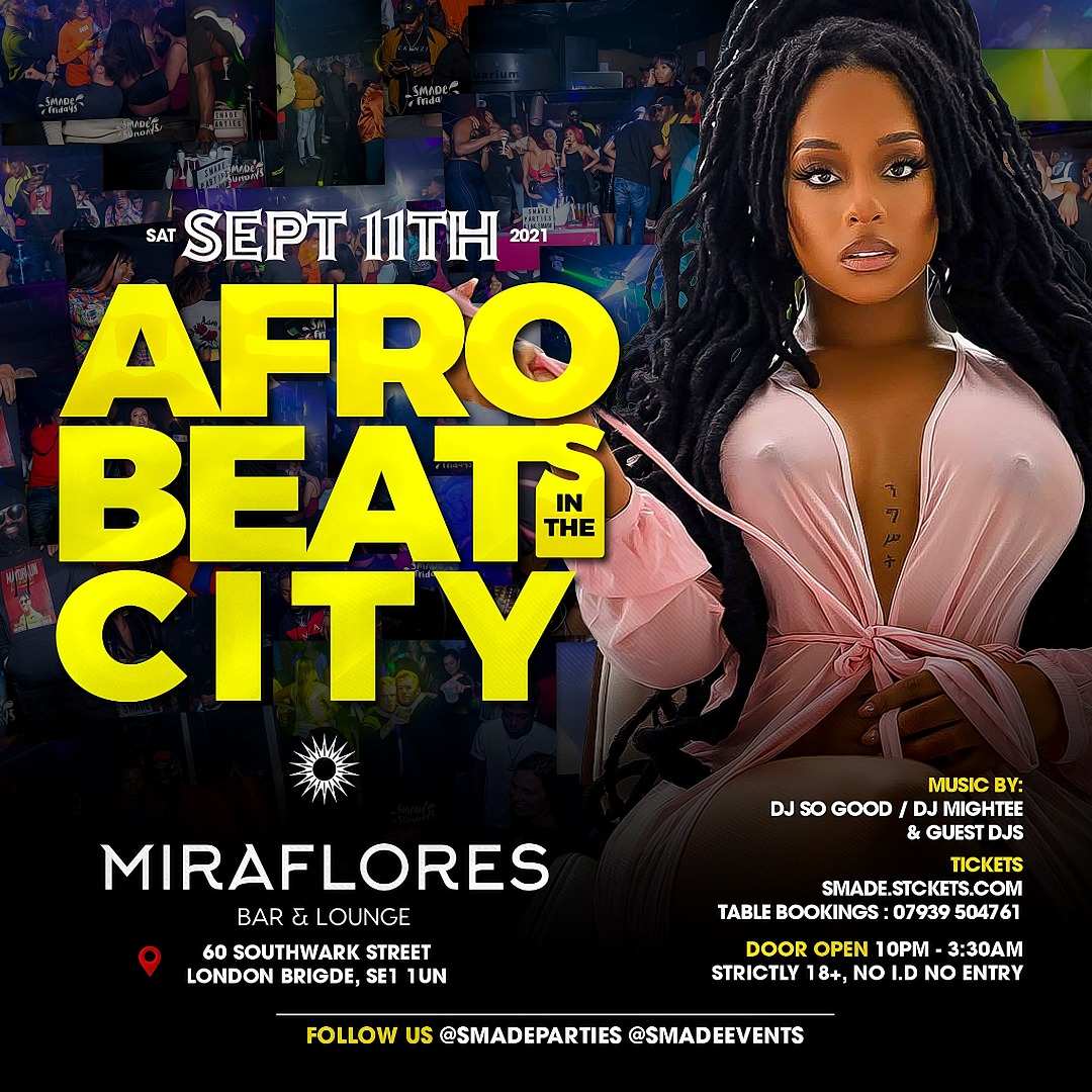 AfroBeats In The City SEP 11 - #SMADESaturdays