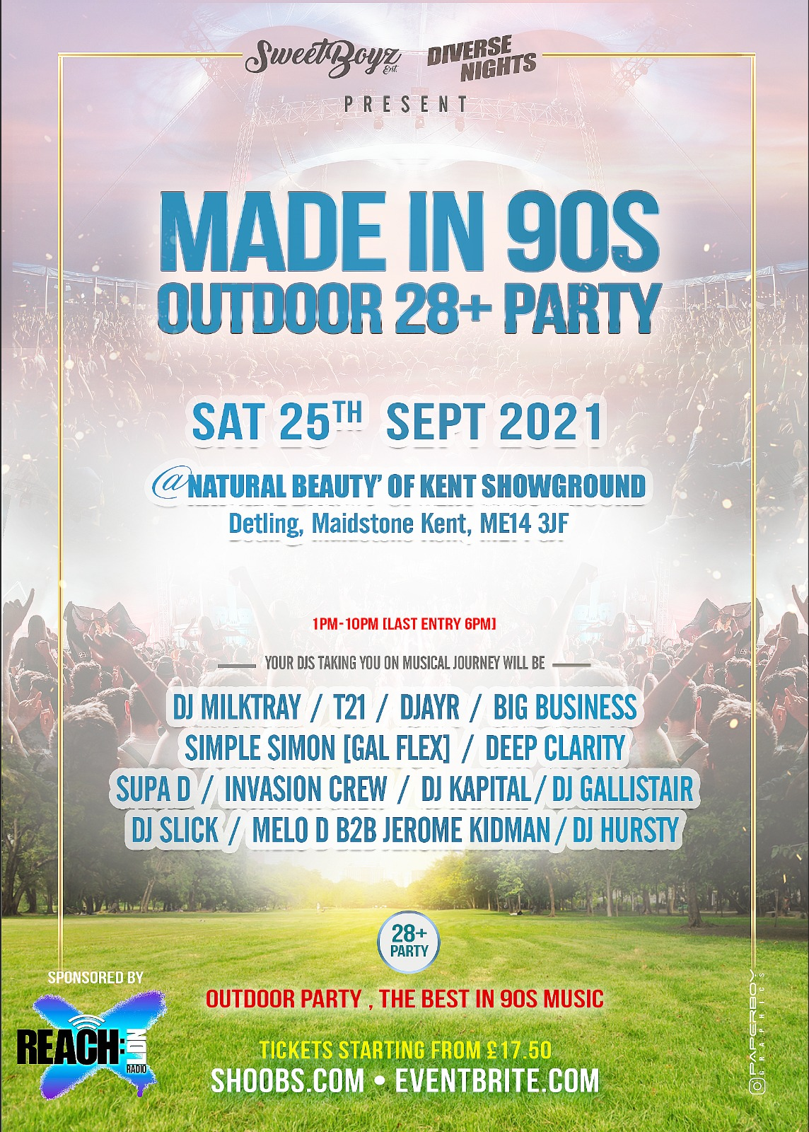 Made In 90s   Outdoor 28+ PARTY