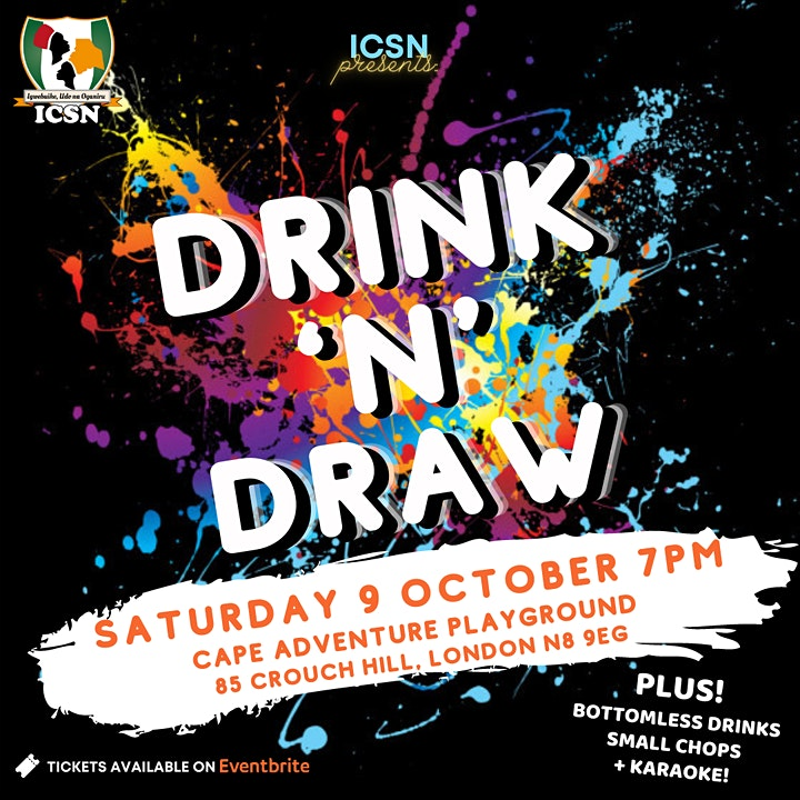DRINK 'N' DRAW | ICSN Sip and Paint Party