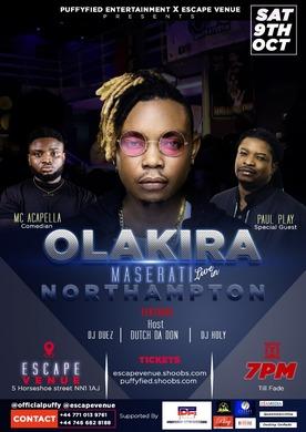 OLAKIRA UK TOUR LIVE IN NORTHAMPTON