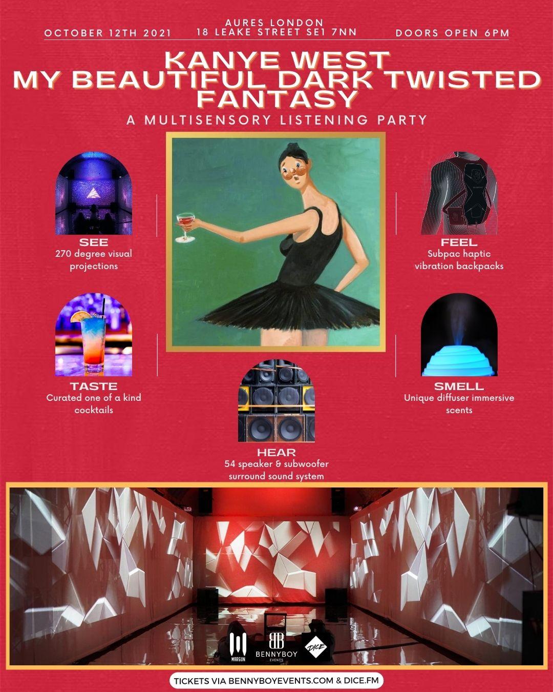 Kanye West, MBDTF Multi-sensory Listening Party