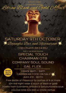 Libran Black and Gold Affair - Club Night in Chingford