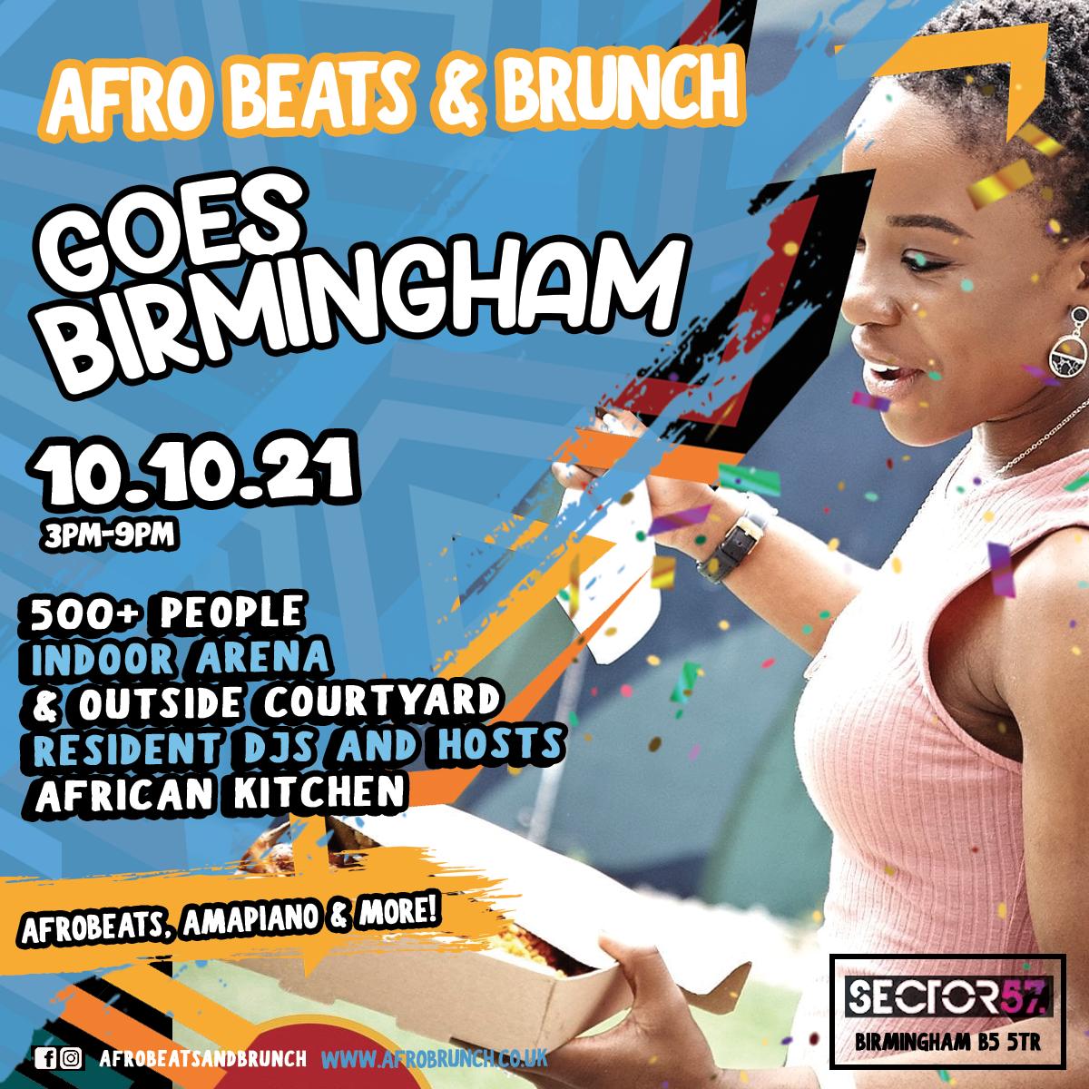 Afrobeats n Brunch - Sun 10th Oct BIRMINGHAM UK TOUR