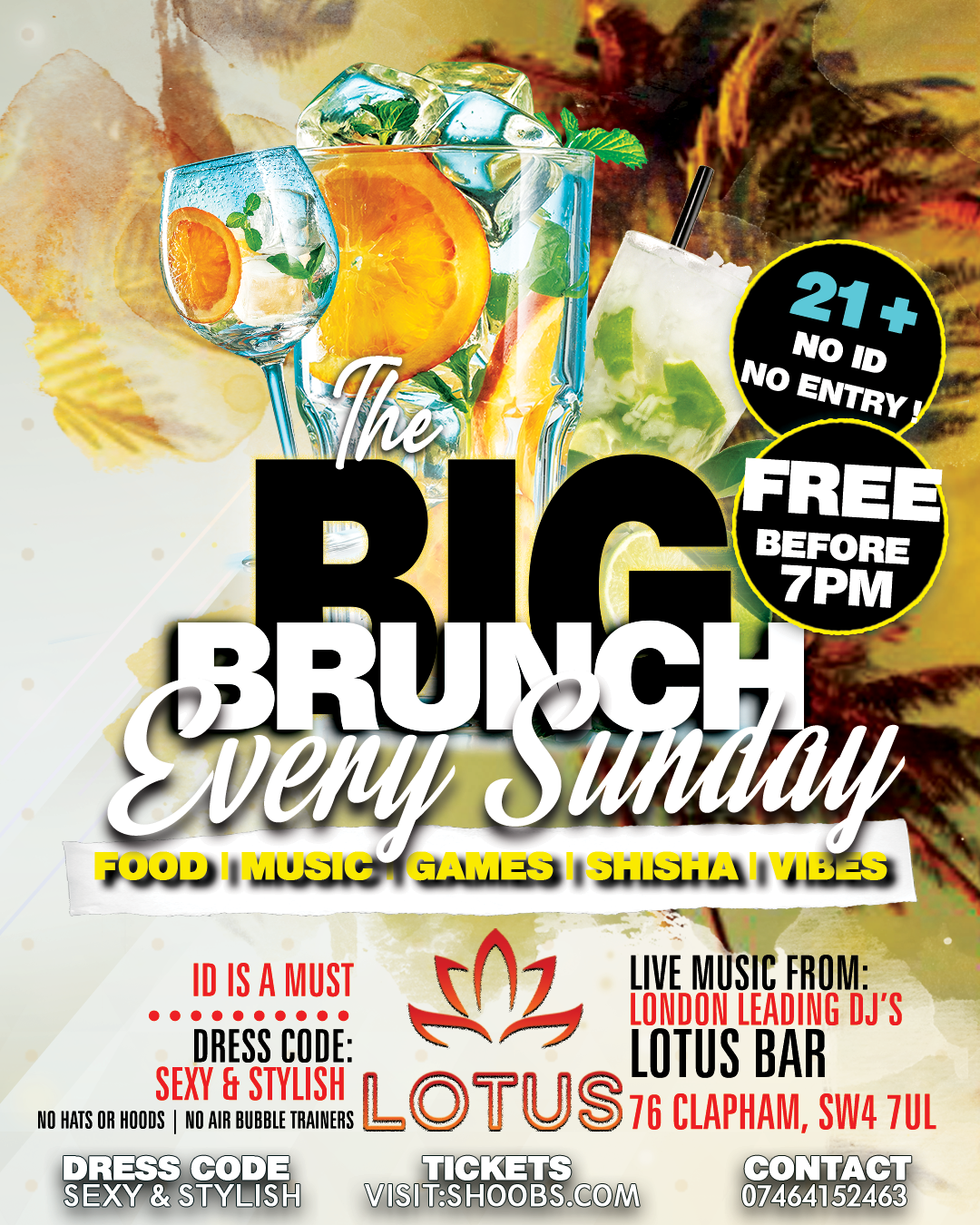 THE BIG BRUNCH - EACH & EVERY SUNDAY