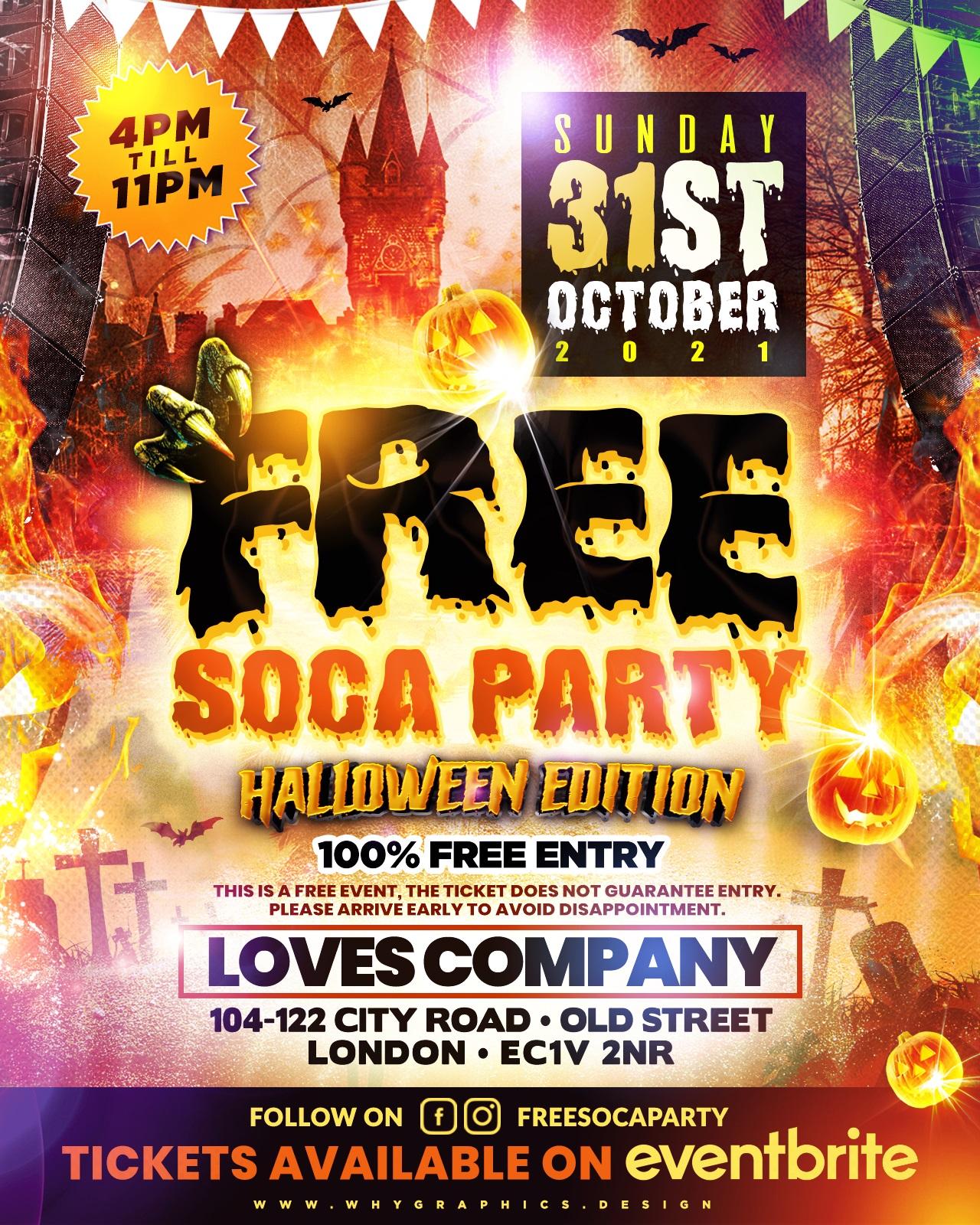 Free Soca Party - Halloween Edition