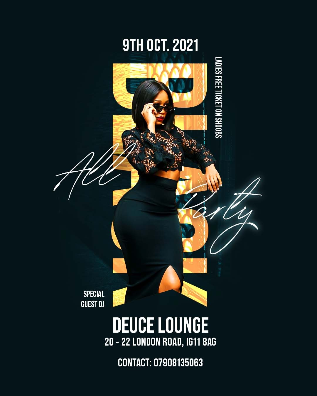 THE ALL BLACK PARTY AT DEUCE LOUNGE 9TH OF OCTOBER  2021