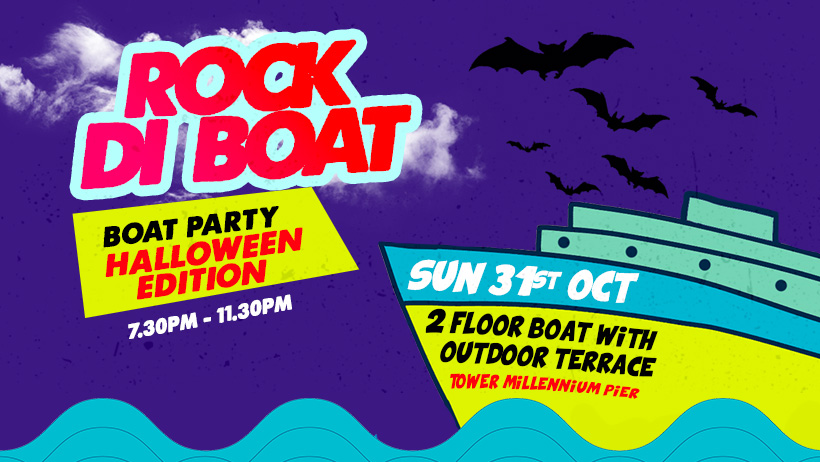 ROCK DI BOAT (Reggae Brunch) - HALLOWEEN Boat Party 31ST OCTOBER 2021