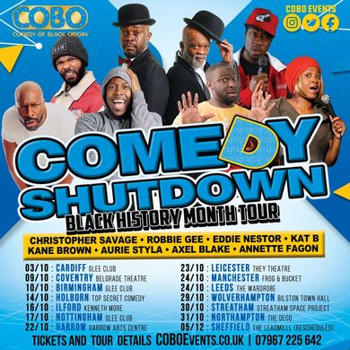 Comedy Shutdown  (Black History Month ) Leicester