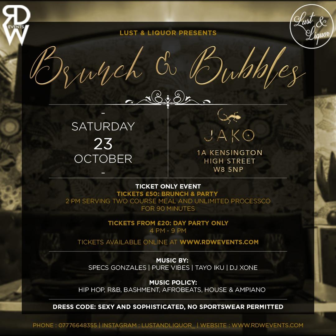 Lust And Liquor Presents Brunch & Bubbles