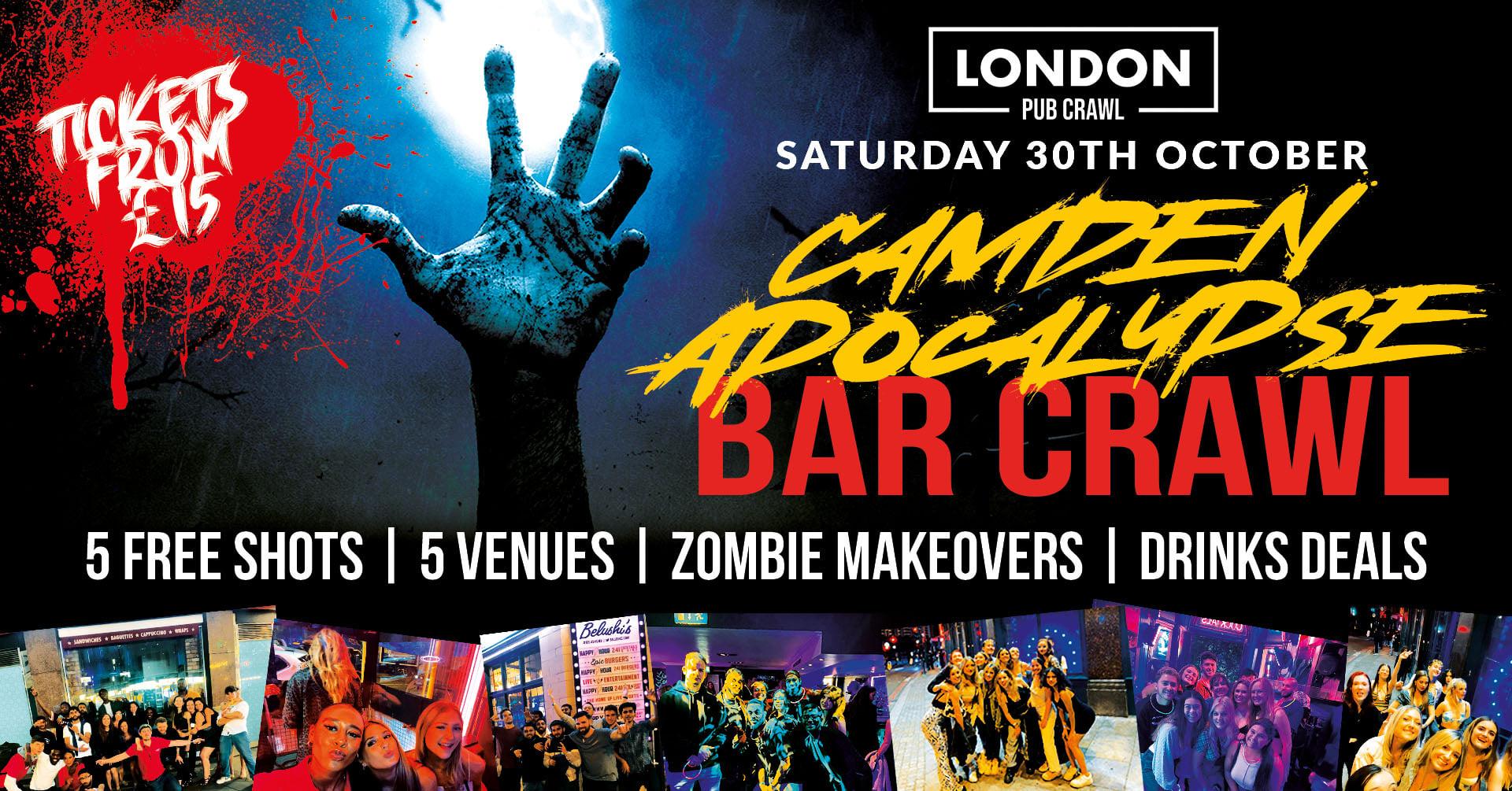 Camden Apocalypse // LDN's Biggest Halloween Bar Crawl // Free Shots