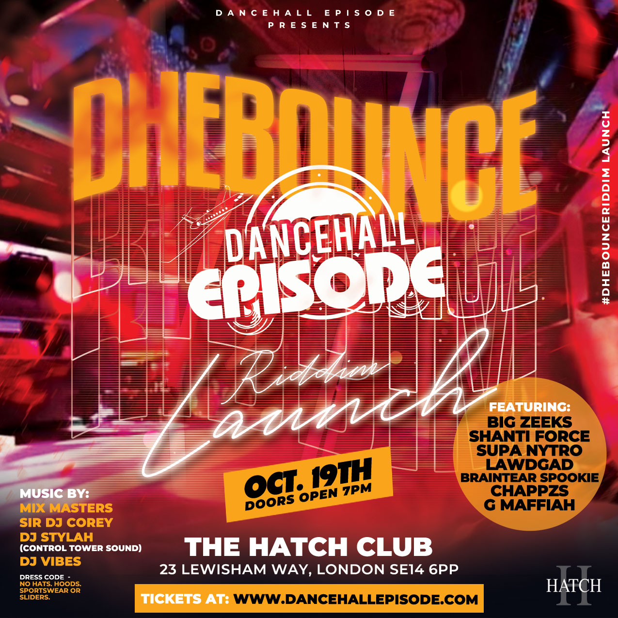 DHE Bounce Riddim Launch