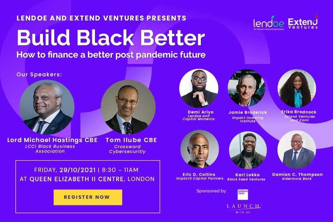 LENDOE: Build Black Better: How to finance a better post pandemic future