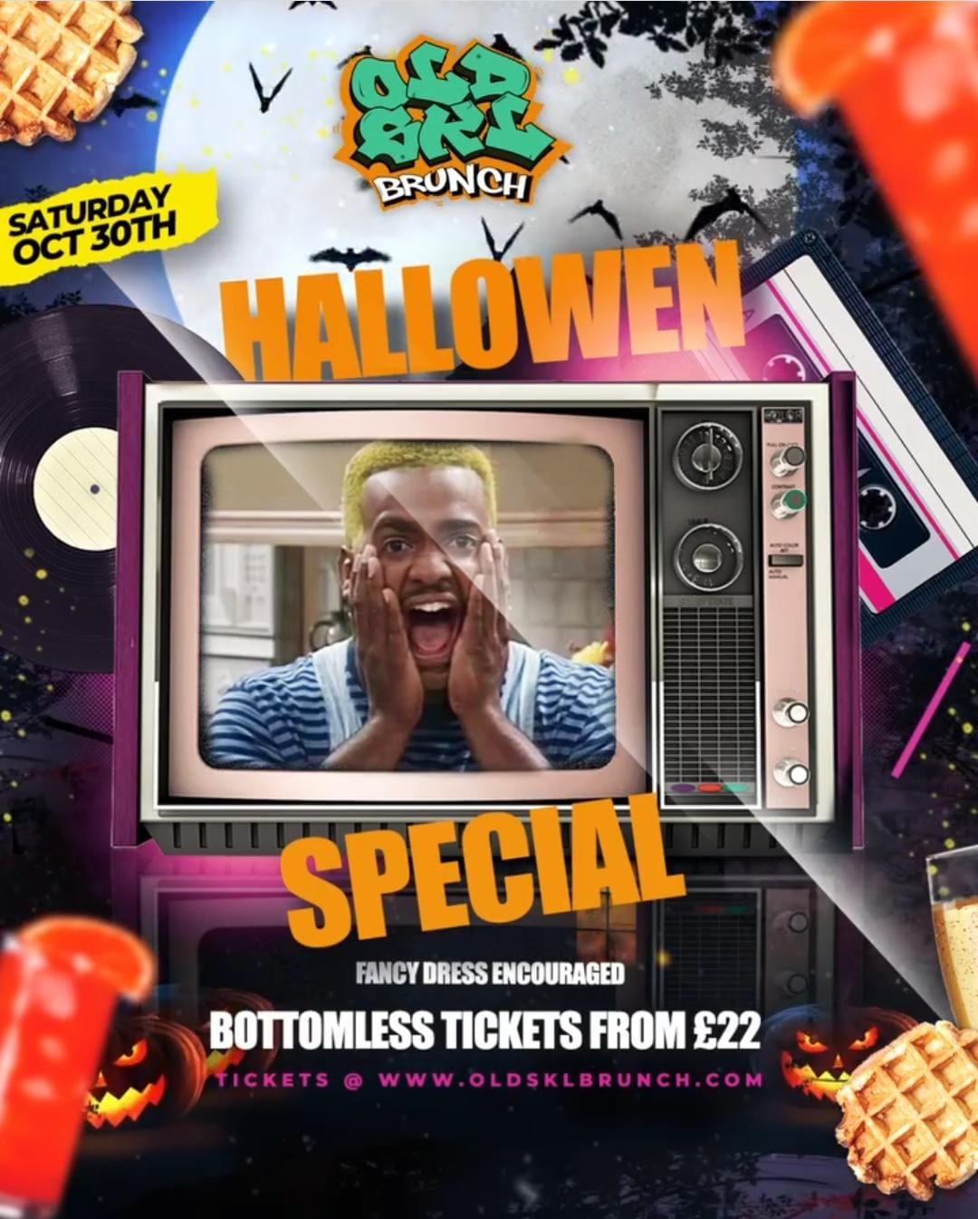 Old Skl Brunch Halloween Special w/ Bottomless Rum Punch