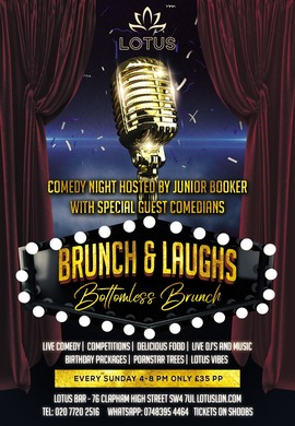 SUNDAY BRUNCH AND LAUGHS! WITH COMEDIAN JUNIOR BOOKER!
