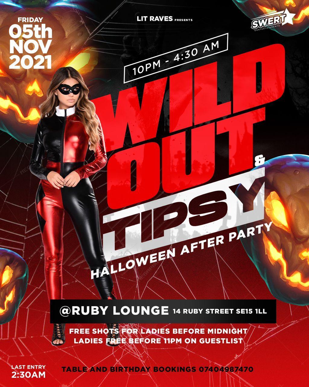Ruby Lounge Fridays - Wild Out Tipsy