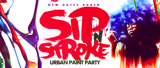 SIP 'N STROKE (5pm-8pm) Sip and Paint