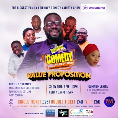 """LONDON- MARKALIVE COMEDY VARIETY SHOW- """"VALUE PROPOSITION"""""""