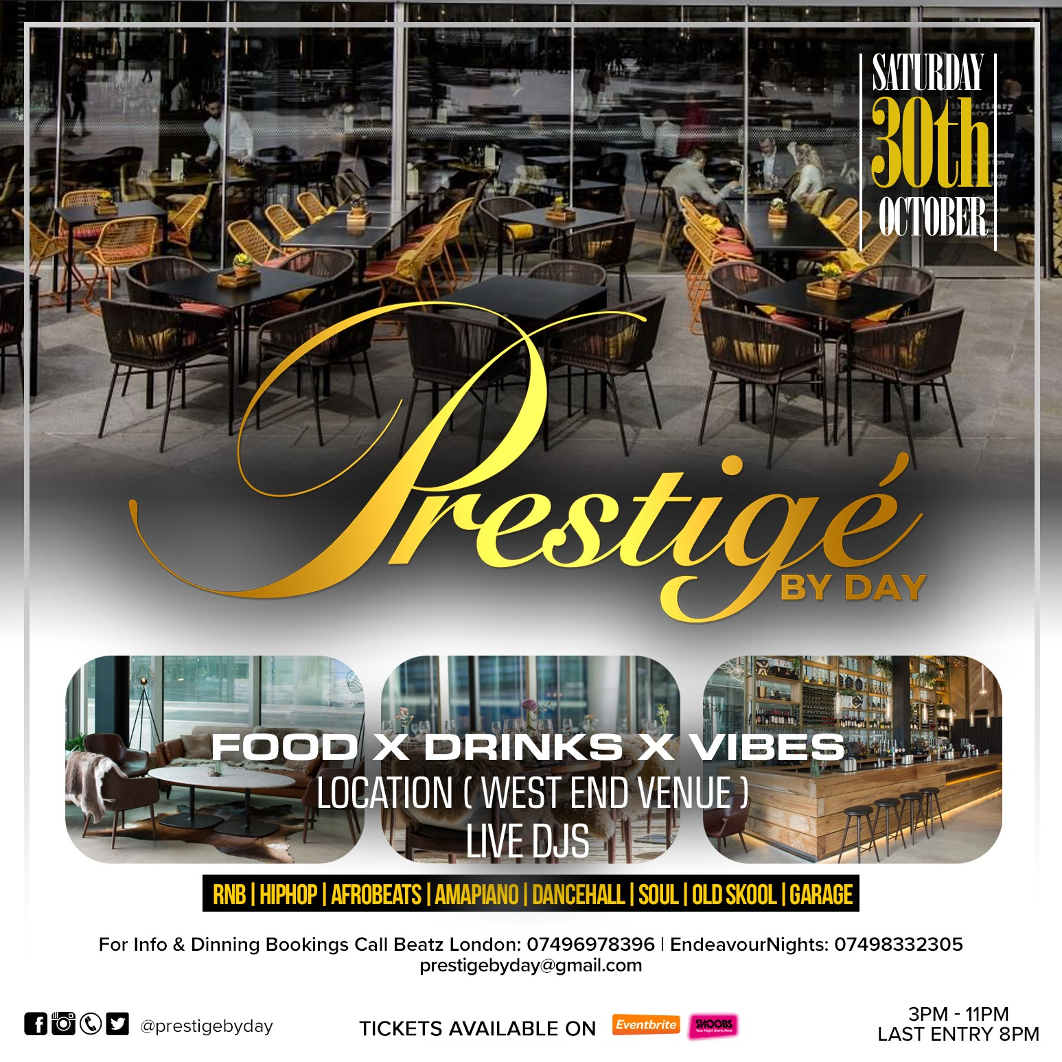 PRESTIGE BY DAY (SUPPER EDITION)