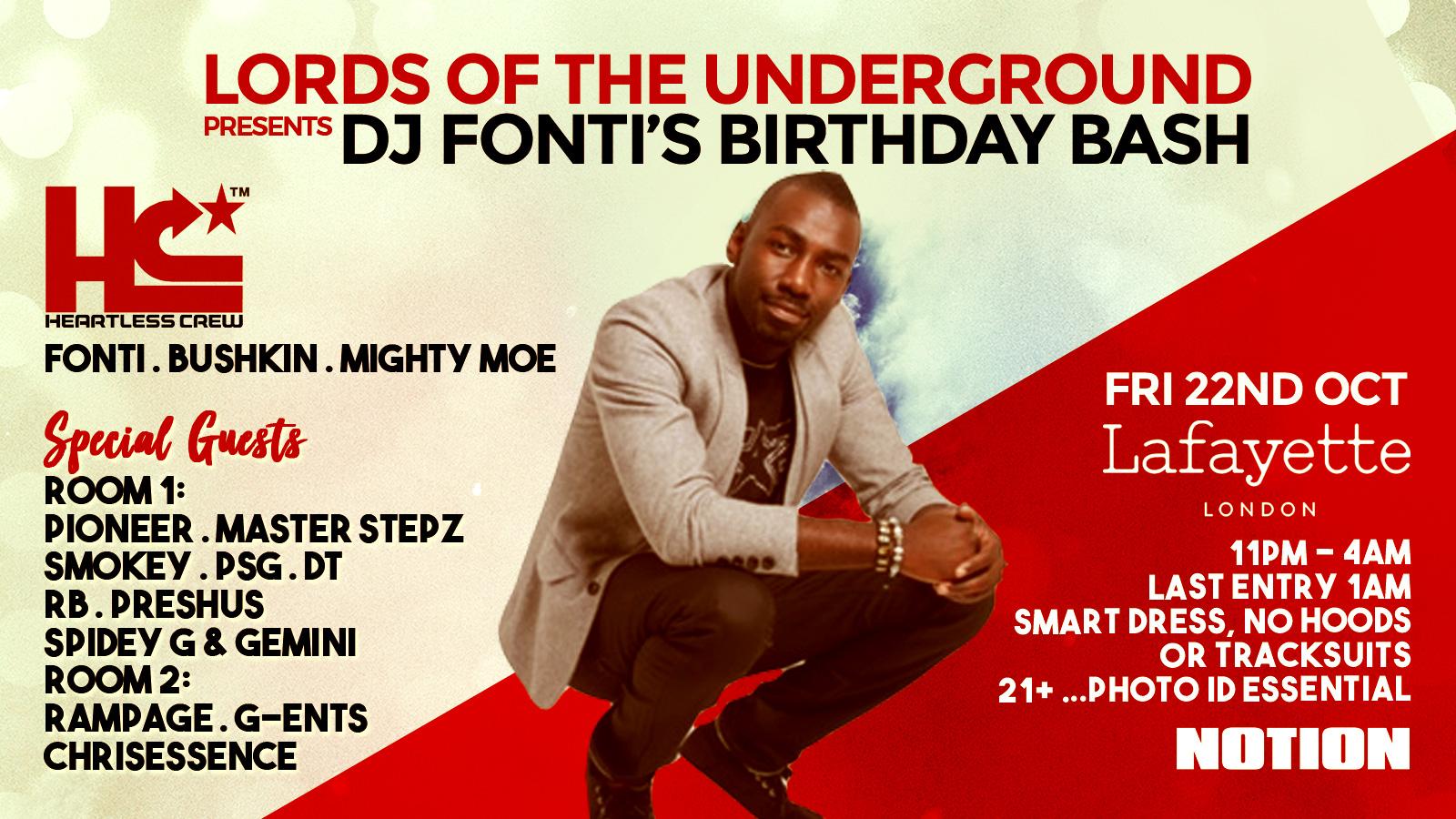 Lords of the Underground presents DJ Fonti's Birthday Bash