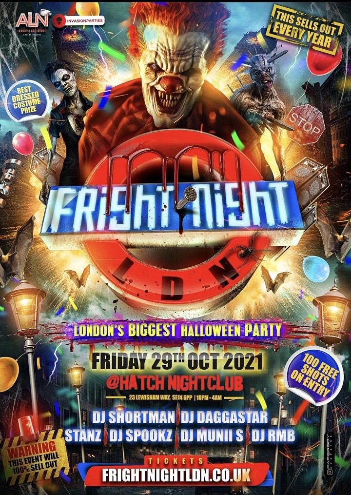 Fright Night LDN - London's Biggest Halloween Party