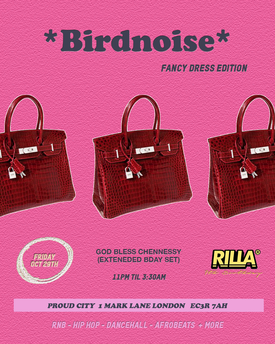 RILLA 7th Birthday x *Birdnoise* Fancy Dress Special (2 Rooms)