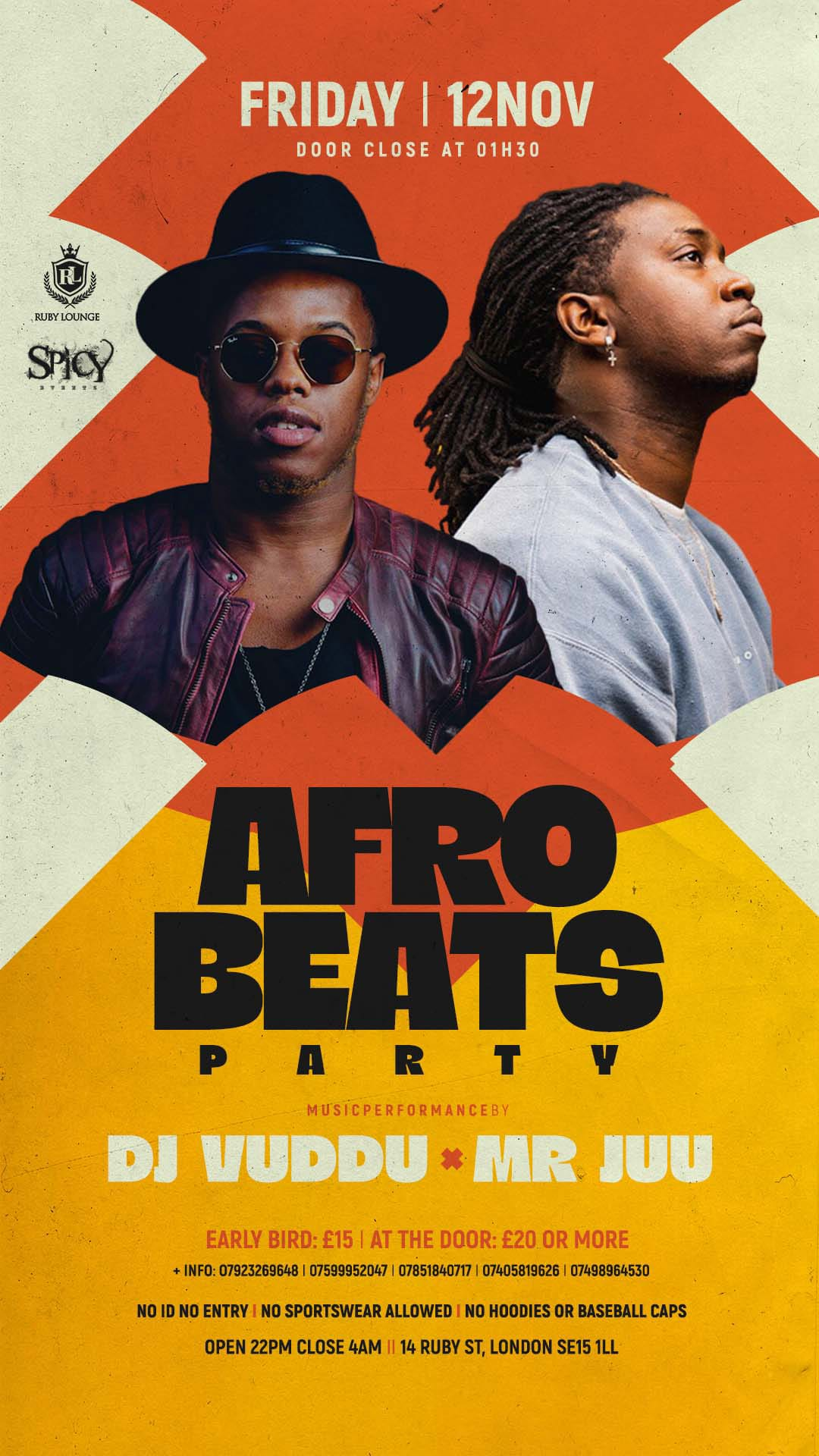 Ruby Lounge Fridays -  Afro Beats Party