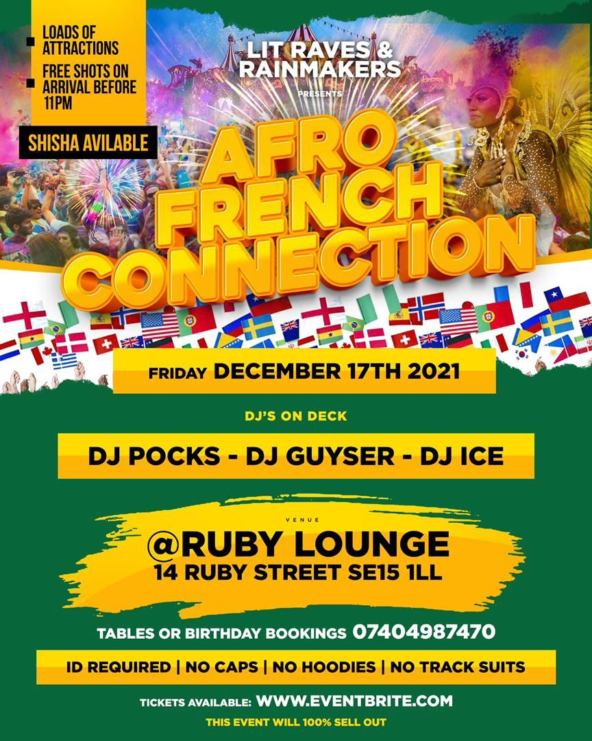 Ruby Lounge Sundays -  Afro French Connection