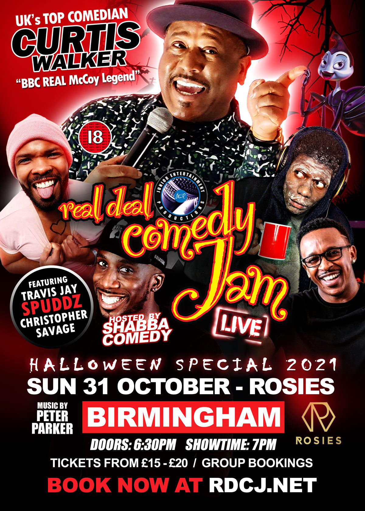 Birmingham Real Deal Comedy Jam Halloween Special