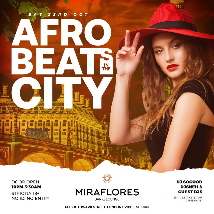AfroBeats In The City OCT 23 - #BlackHistoryMonth