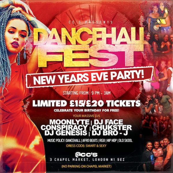 DANCEHALL FEST NYE PARTY